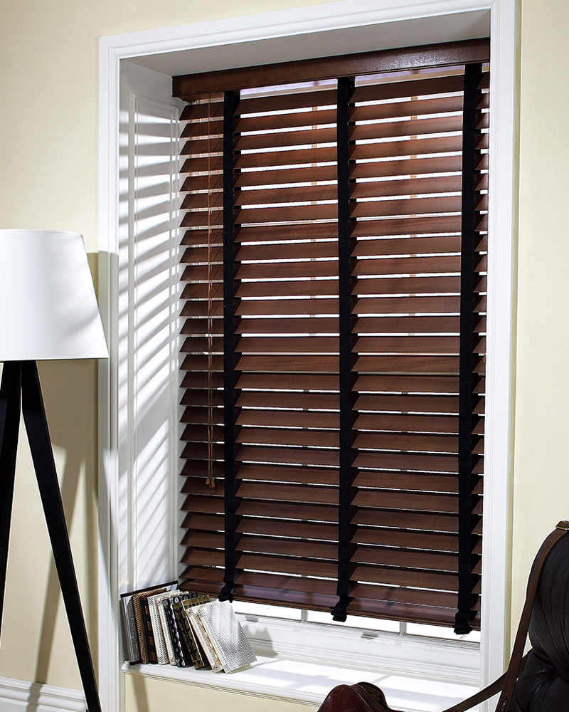 63mm Walnut Blind with 38mm Chocolate Tape