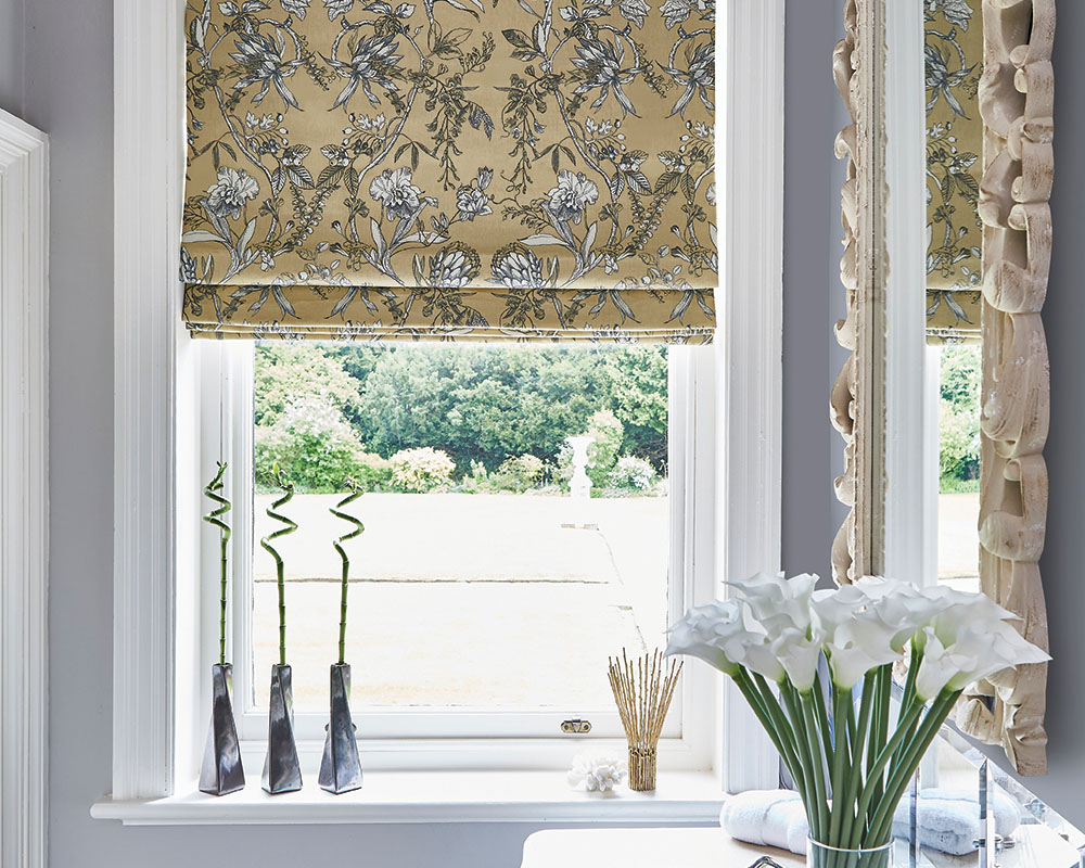 Linley Chambray Roman Blinds