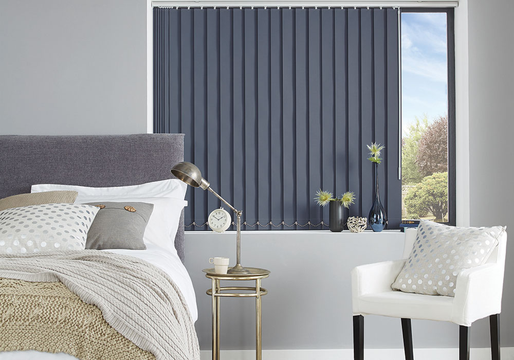 Rio Breton Blue Vertical Blind