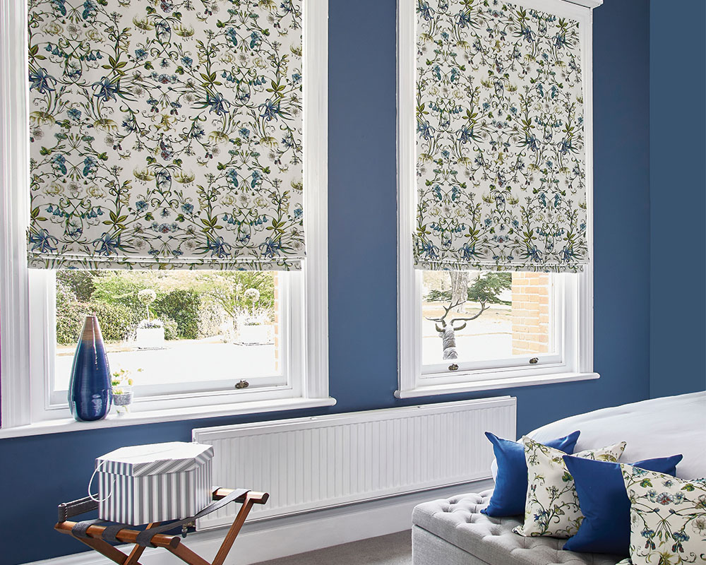 Carlotta Waterfall Roman Blinds