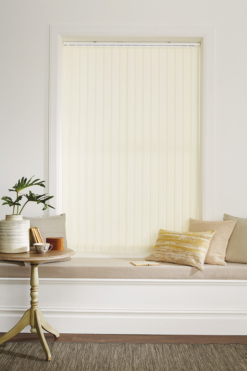 Carnival Cream Vertical Blind