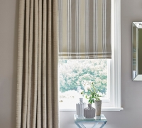 Elderberry Praline Roman Blind Imagination Camel Curtains