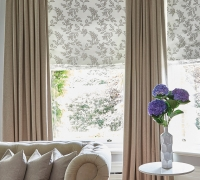 Glade Natural Roman Blind Oslo Hemp Curtains