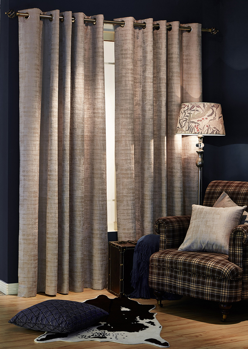 Marble Taupe Ready Made Curtains