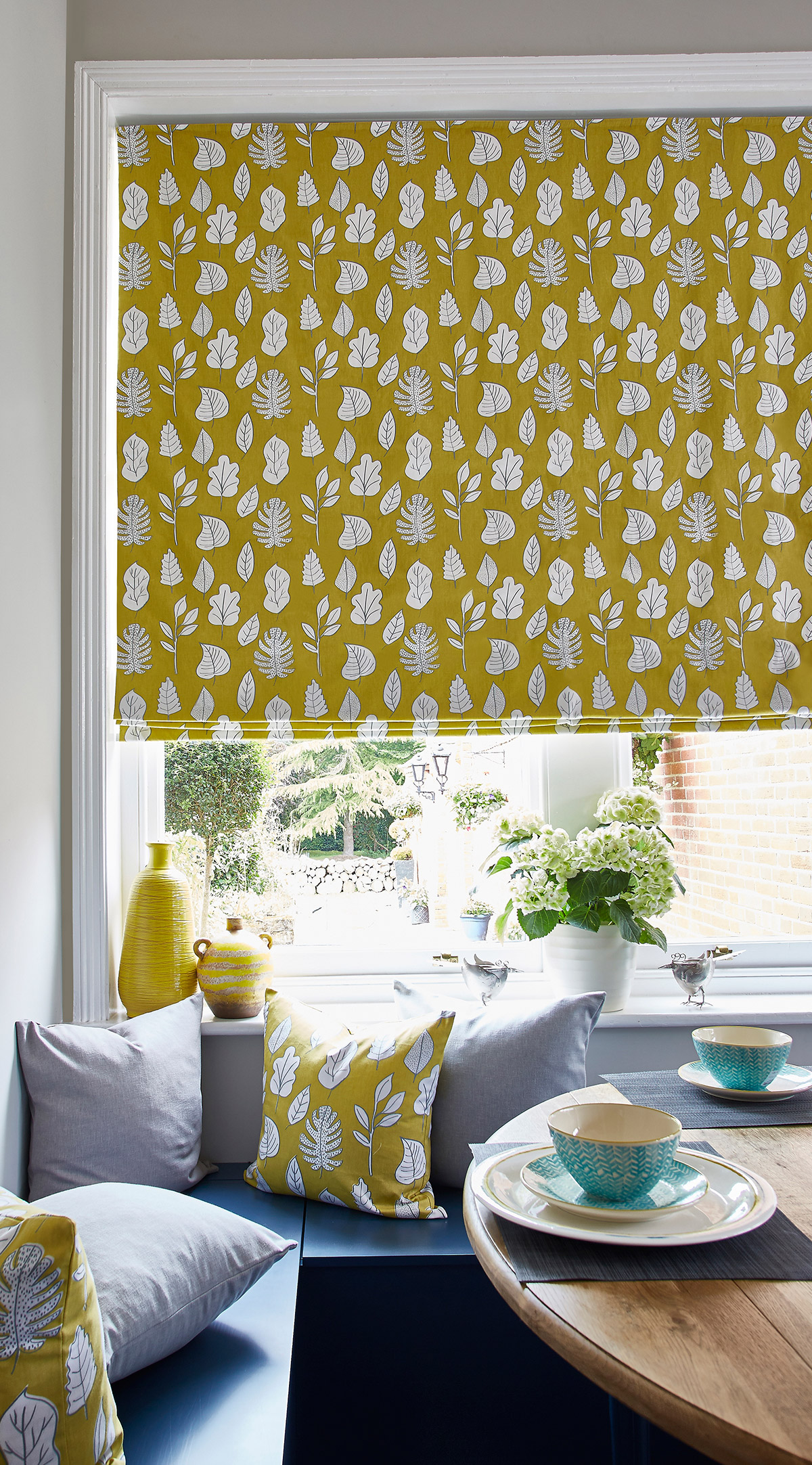 Biscayne Honeydew Roman Blind from SLX