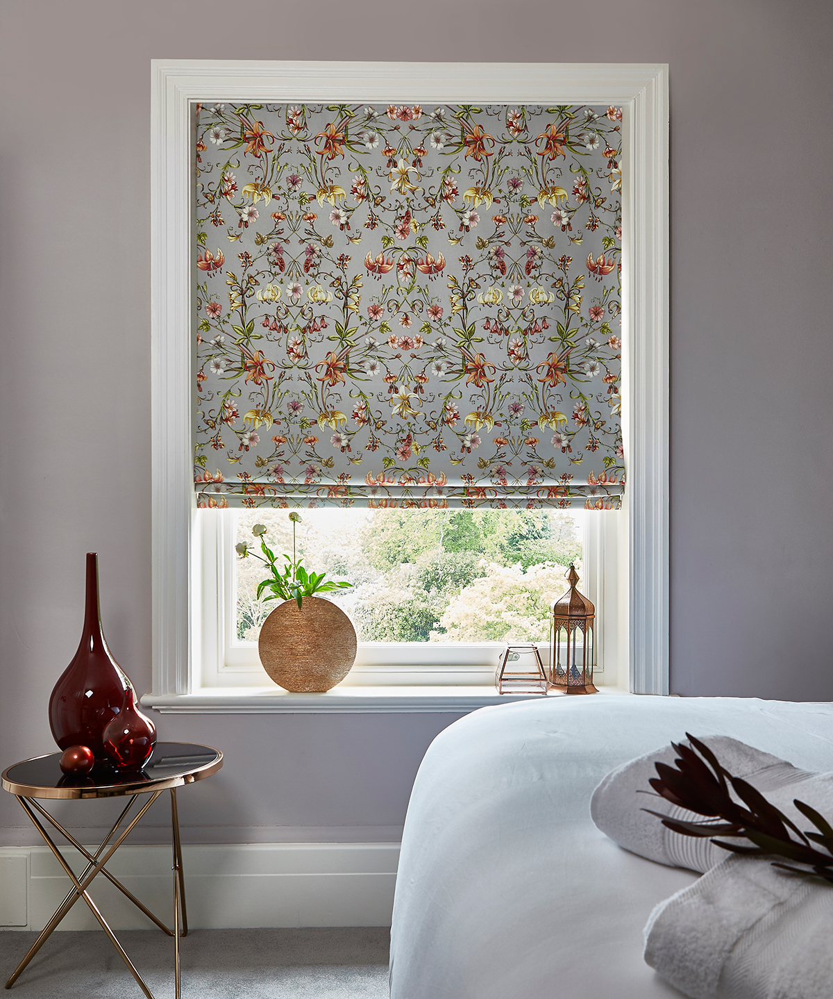 Carlotta Pebble Roman Blinds from SLX
