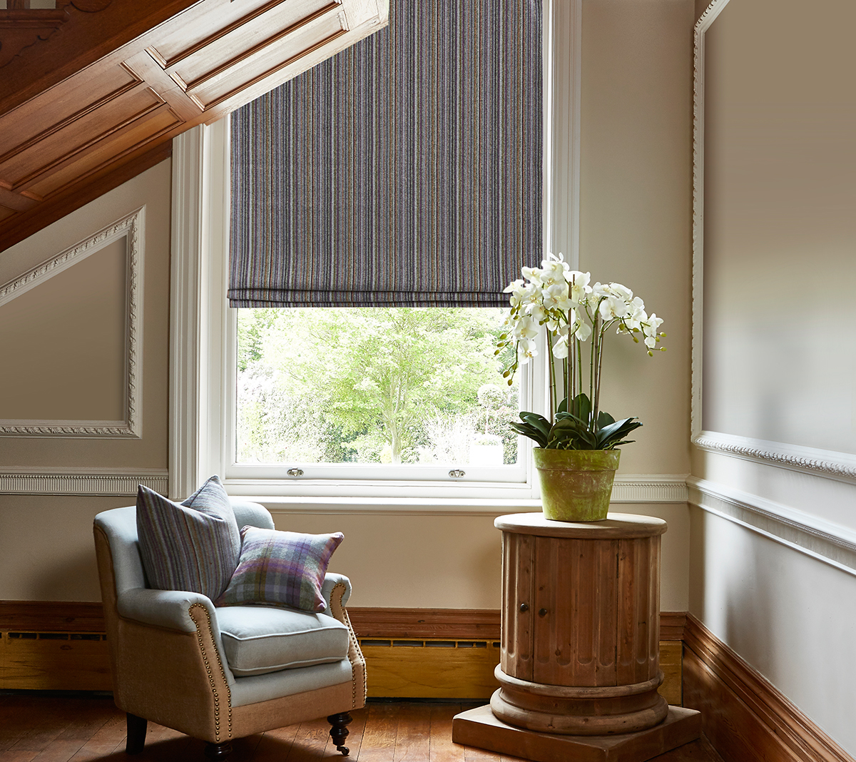 Drummond Heather Roman Blind from SLX