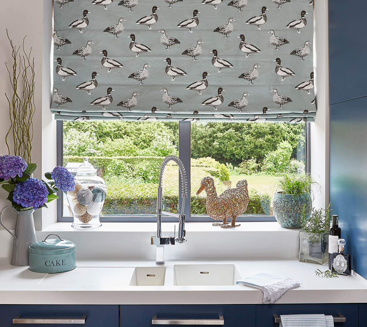 Duck Egg Shell Roman Blind from SLX