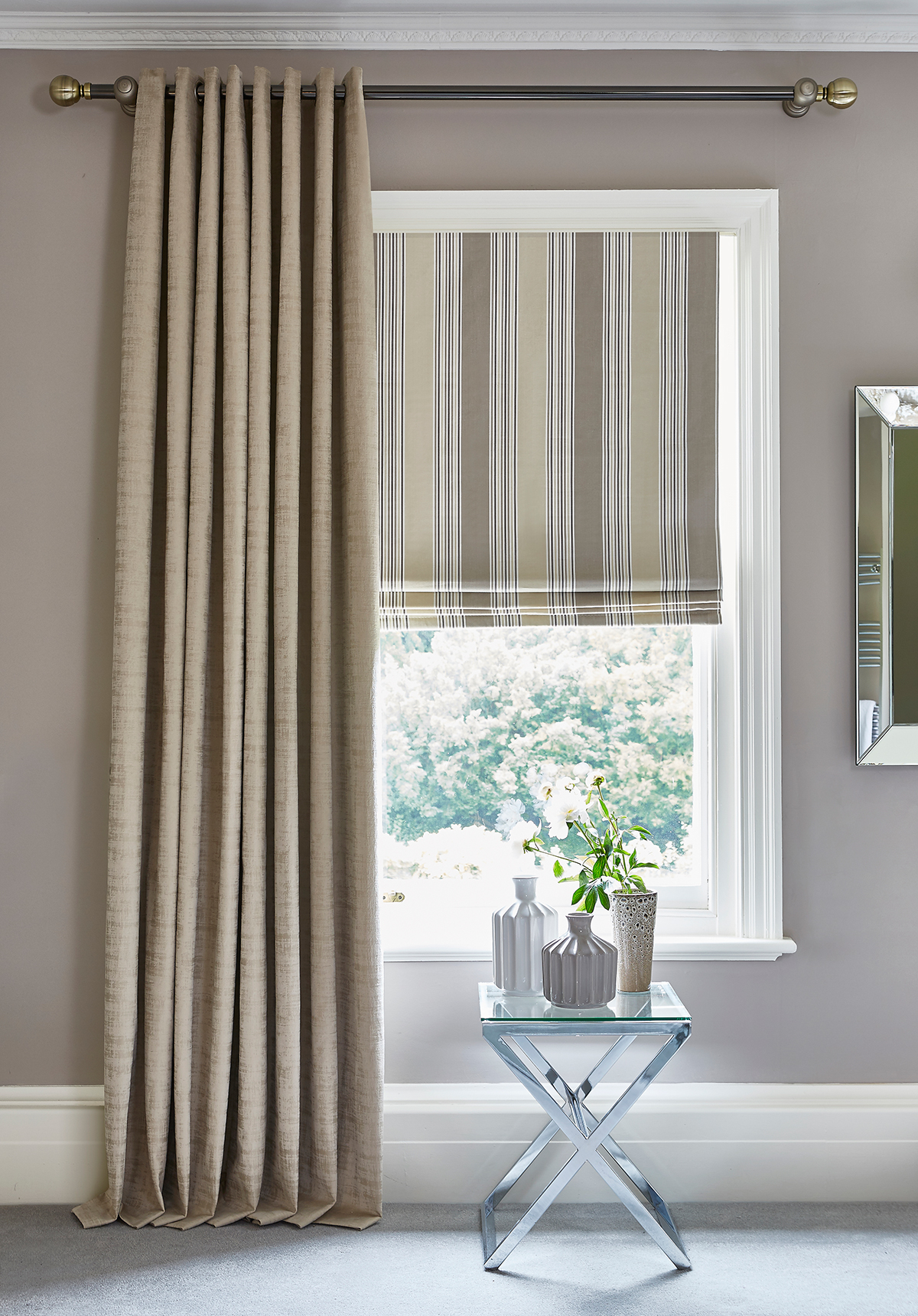 Elderberry Praline Roman Blinds from SLX