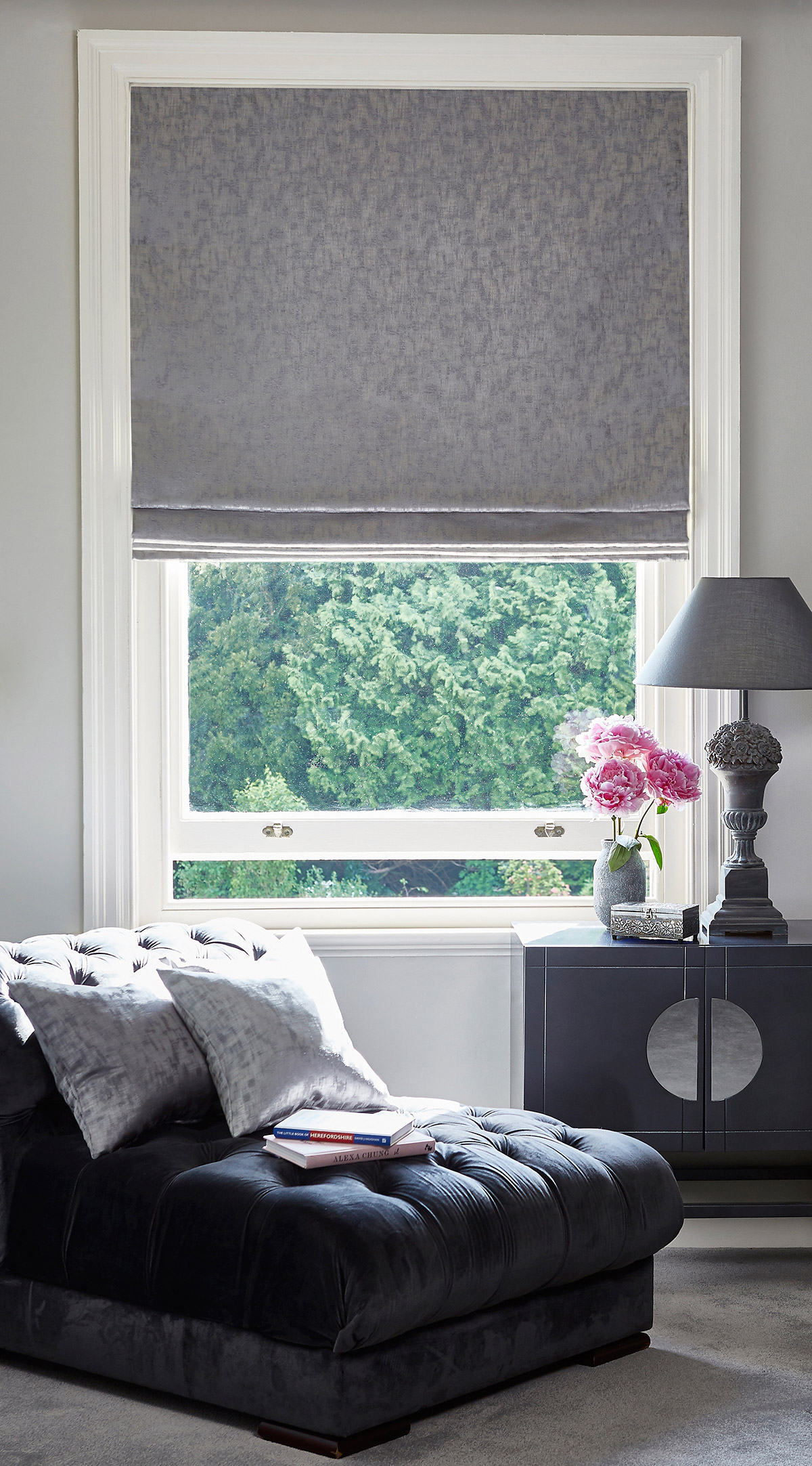 Magical Sterling Roman Blind from SLX
