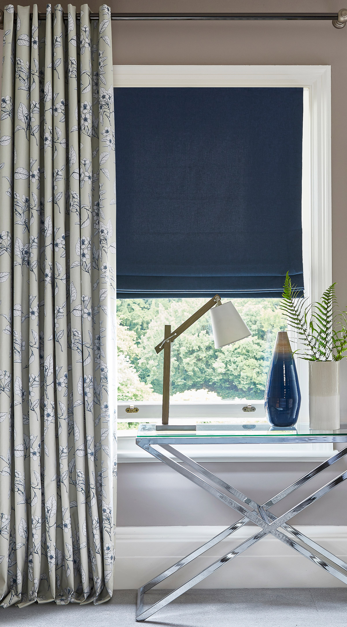 Oslo Oxford Roman Blind from SLX