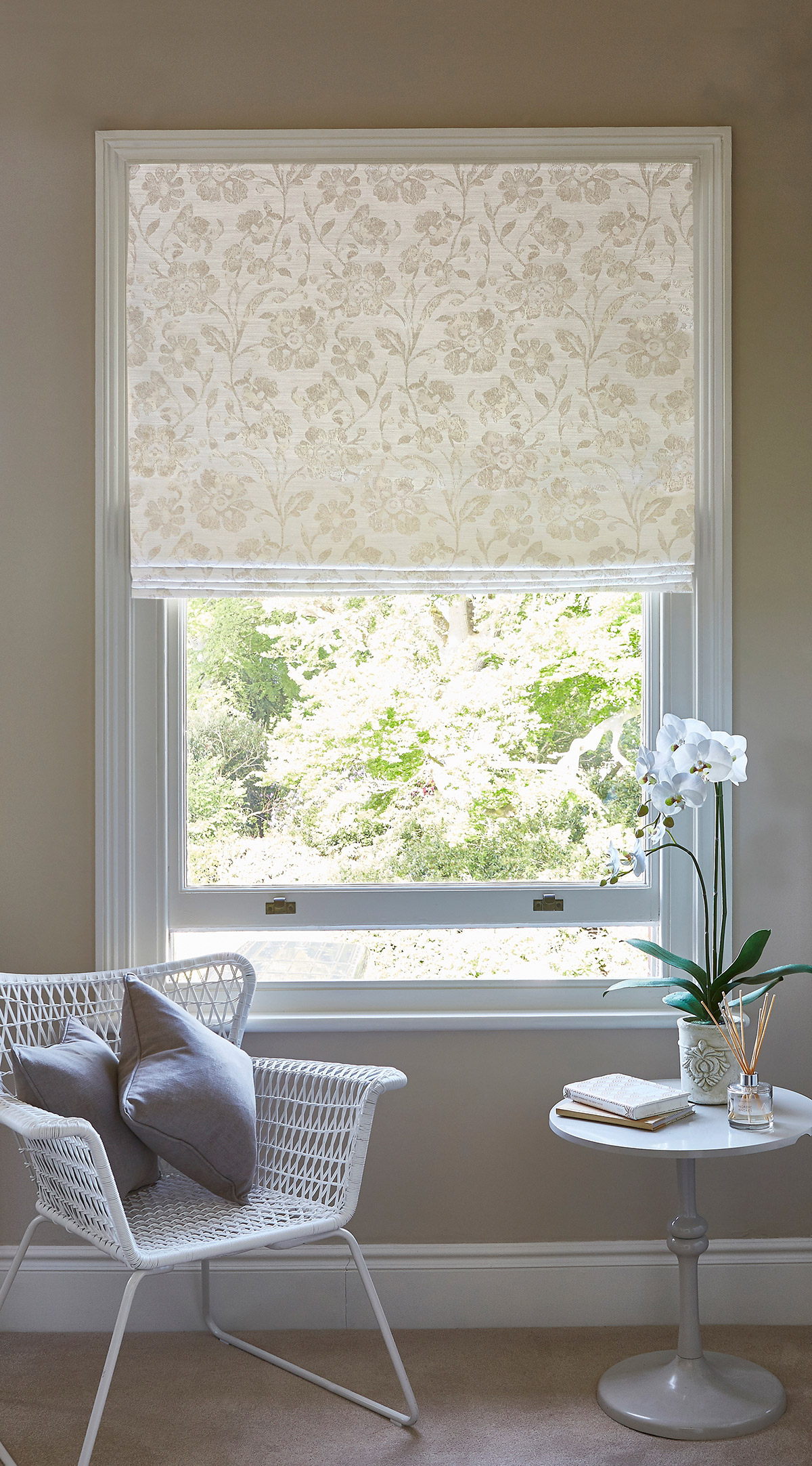Sonara Oyster Roman Blind from-SLX