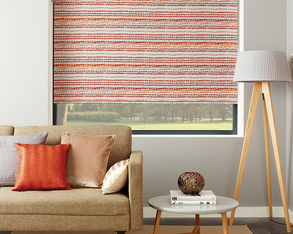 Pebbles Rumba Red Roller Blind