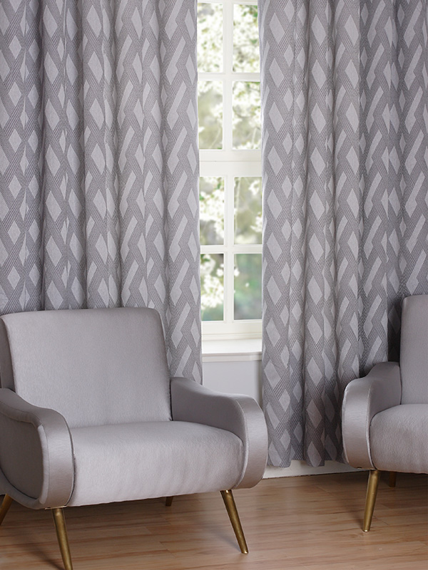 Illusion Sterling Ready Made Curtains