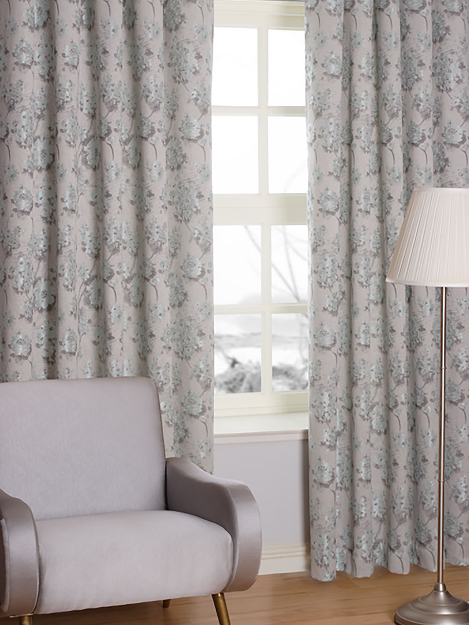 Bloom Seafoam Ready Made Curtains
